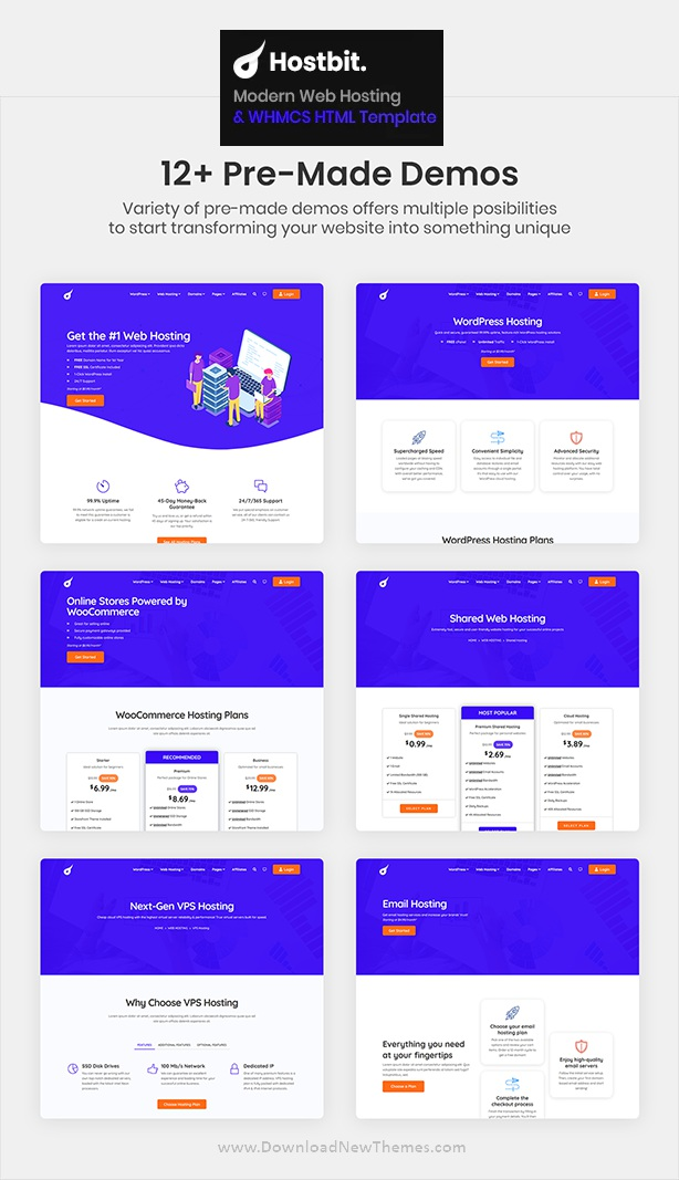 Modern Web Hosting and WHMCS Template