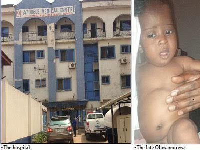 Baby Gbadeyan's death: Ayodele Medical Centre releases statement