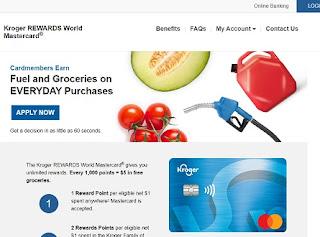 kroger 123 rewards credit card login
