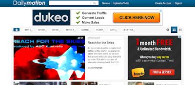 بدائل اليوتيوب - ديليموشن Dailymotion أقوى بدائل اليوتيوب - وظائف ناو