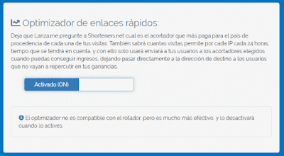 Optimizador de enlaces rápidos para acortadores