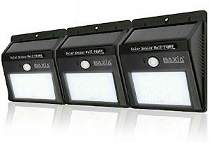 Baxia Solar LED Lights with Motion Sensor