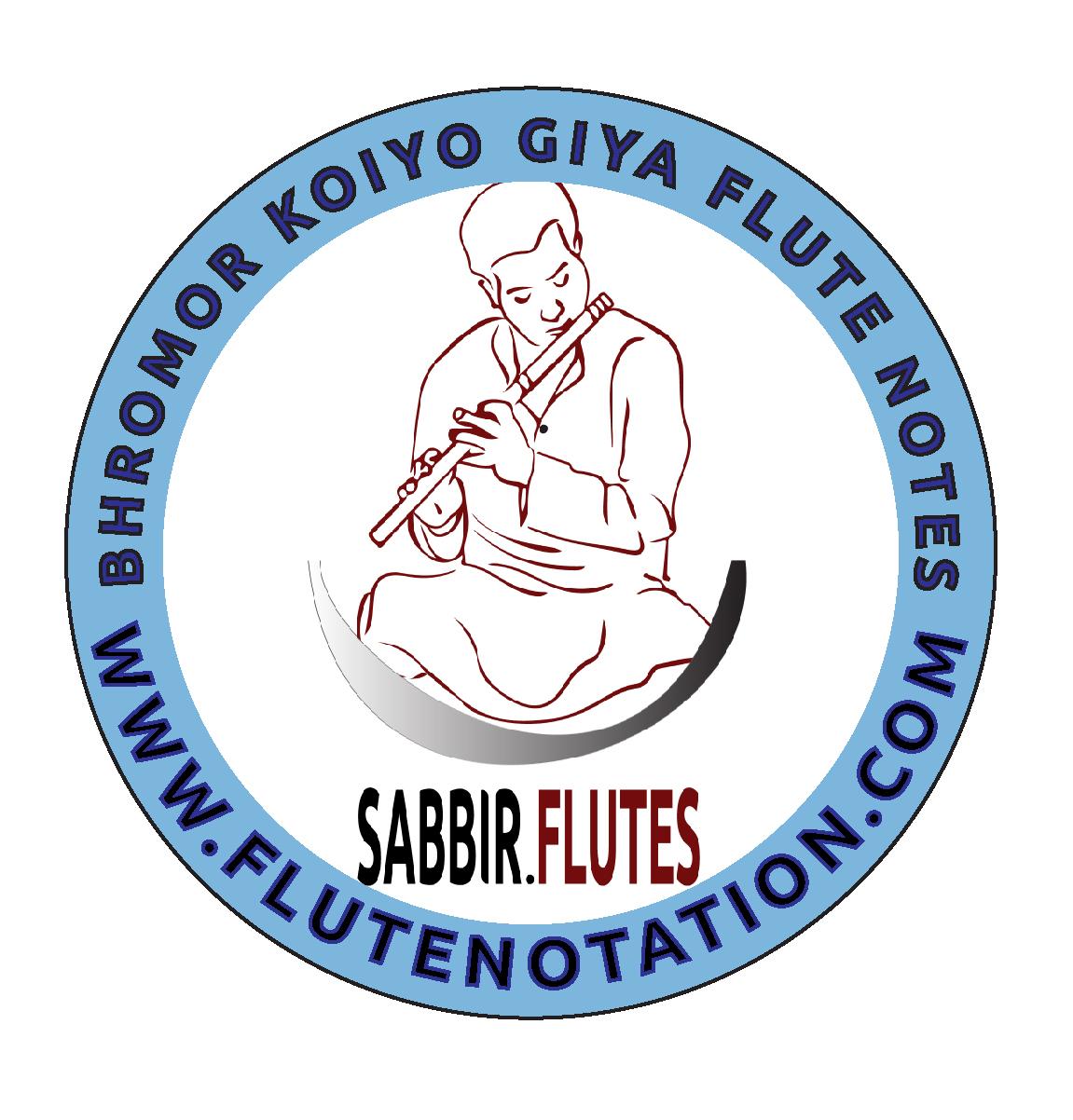 Bhromor koiyo giya flute notes ( Flute Sargam ) - Flute