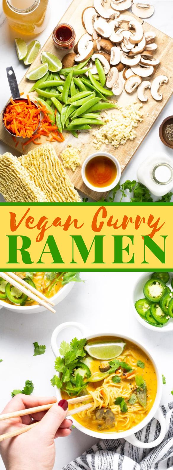 20 MINUTE VEGAN CURRY RAMEN #vegandinner #familyrecipe
