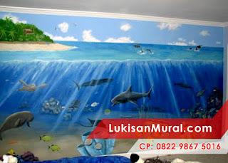 lukisan tembok 3d