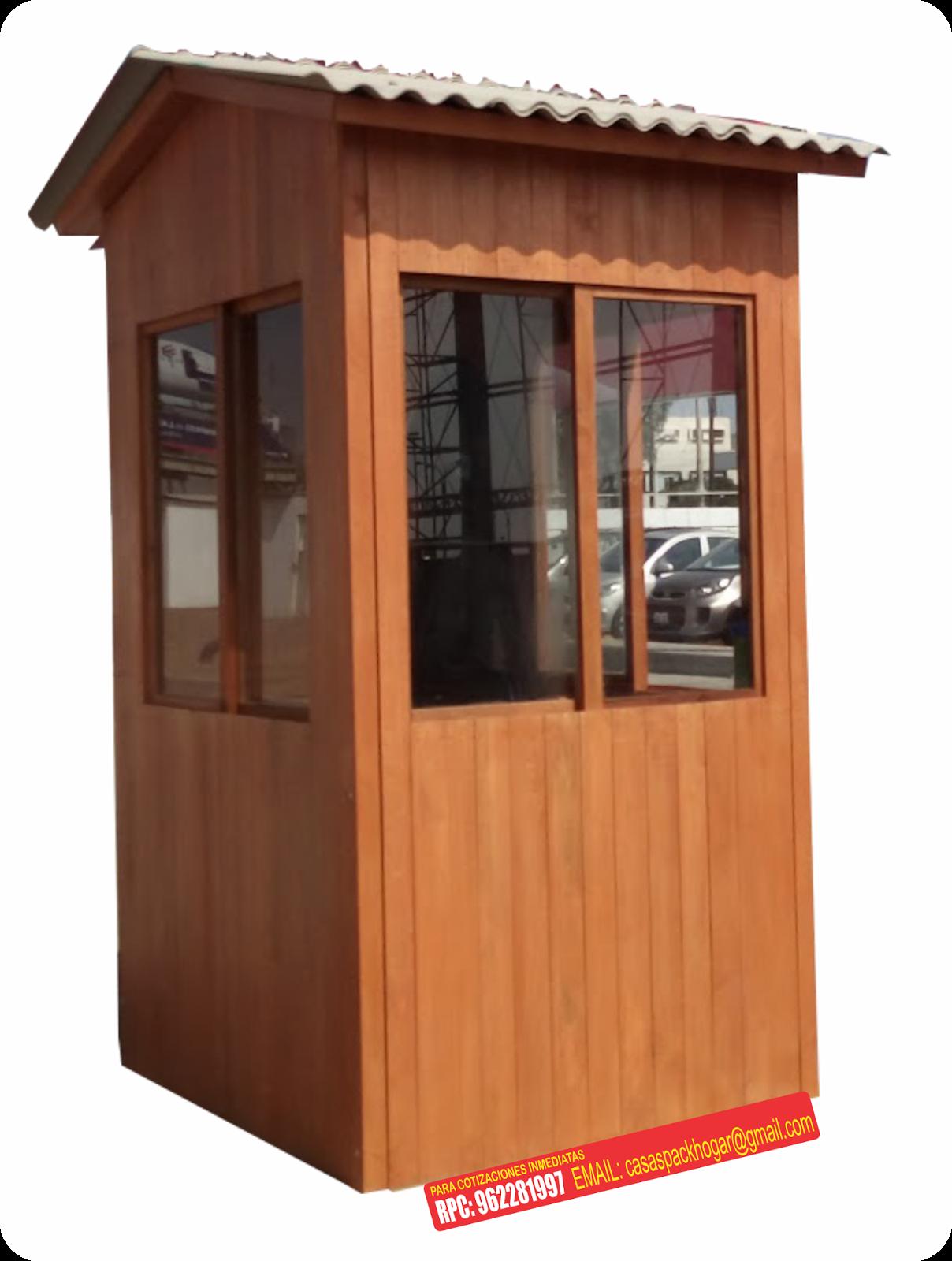 Casetas de vigilancia y seguridad en santiago de surco for Precio de casetas