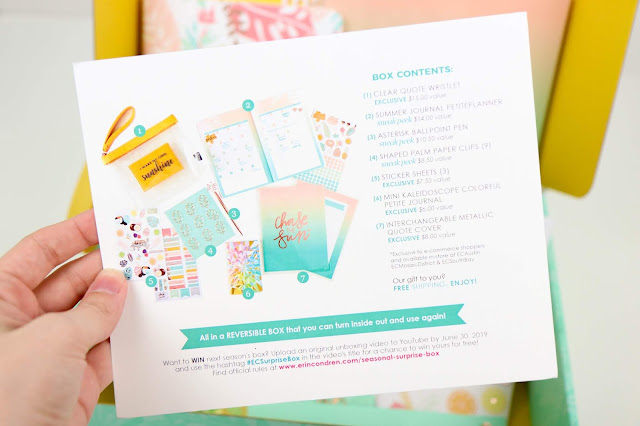 Erin Condren Summer 2019 Seasonal Surprise Box Review