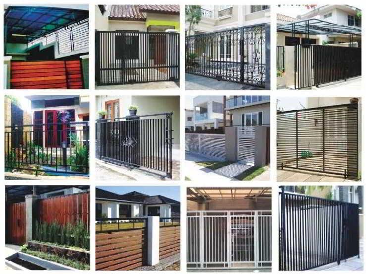 28 model pagar besi  rumah  minimalis sederhana hollow