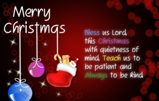 Merry Christmas Messages and Wishes in English Telugu For Cards