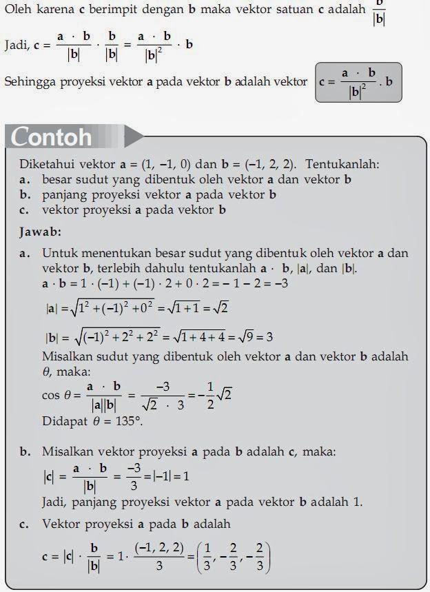 Matematika Di Sma Perkalian Skalar Dua Vektor Dan Proyeksi Vektor