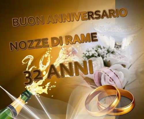 Anniversario Matrimonio 32 Anni.Auguri In Una Clip Anniversario Di Matrimonio Anno Per Anno
