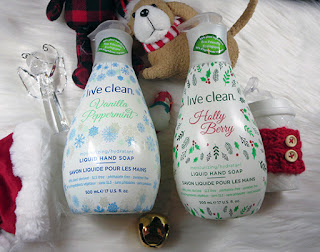 Give the Gift of Live Clean....With a Dash of Vanilla Peppermint & Holly Berry Moisturizing Hand Soap ~ #Review #Giveaway #2017GiftGuide