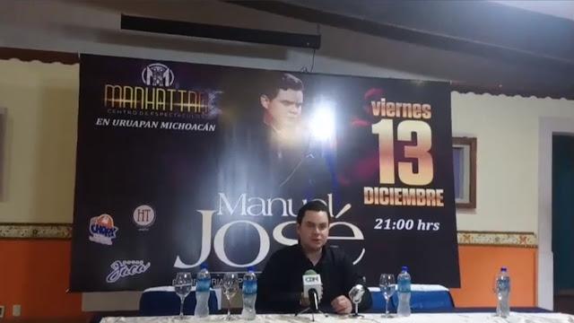 Manuel José se presentará en Uruapan