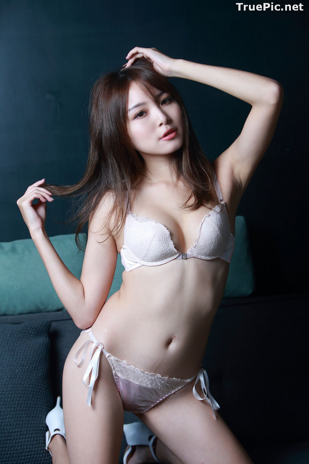 Image Taiwanese Model - Ash Ley - Sexy Girl and White Lingerie - TruePic.net - Picture-5