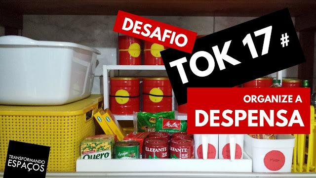 Organize a despensa! - Tok 17 | Desafio 52 toks de organização e decor