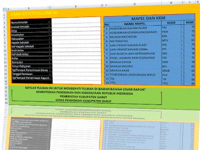 Aplikasi Penilaian KTSP SD/MI Kelas 1,2,3,4,5,6 Plus Cetak Raport lengkap dengan 14 mapel