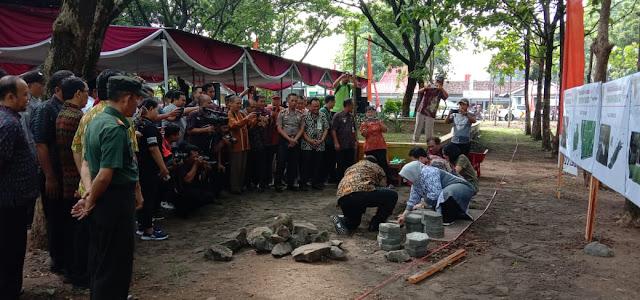 Kodim Sragen - Peletakan Batu Pertama Jogging Track Dan Plazaentrace Di Buper Ki Balak Plumbungan, Karangmalang