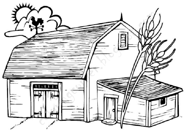 barn pictures to coloring pages - photo#4