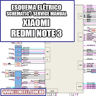 Esquema Elétrico Smartphone Celular Xiaomi Redmi Note 3 Manual de Serviço   Service Manual schematic Diagram Cell Phone Xiaomi Redmi Note 3      Esquematico Smartphone Celular Xiaomi Redmi Note 3