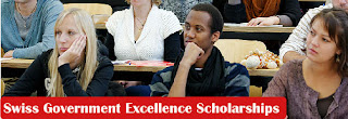 Swiss Government Excellence Scholarships 2020/21