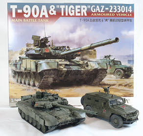 """Build Review Pt II: 1/48th scale T-90A & GAZ-233014 """"Tiger"""" - Today the T90A"""