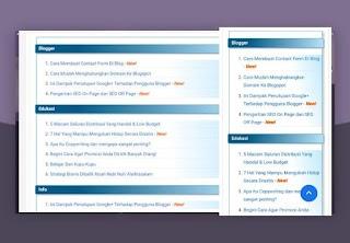 Cara Membuat Sitemap di Blog Dengan Tampilan Yang Menarik