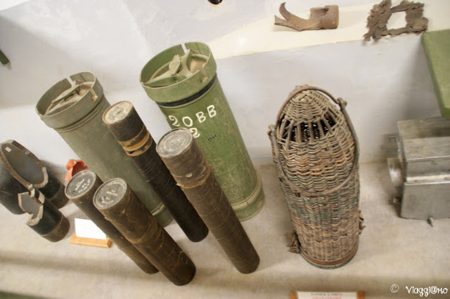 Alcune munizioni esposte nel Four a Chaux di Lembach