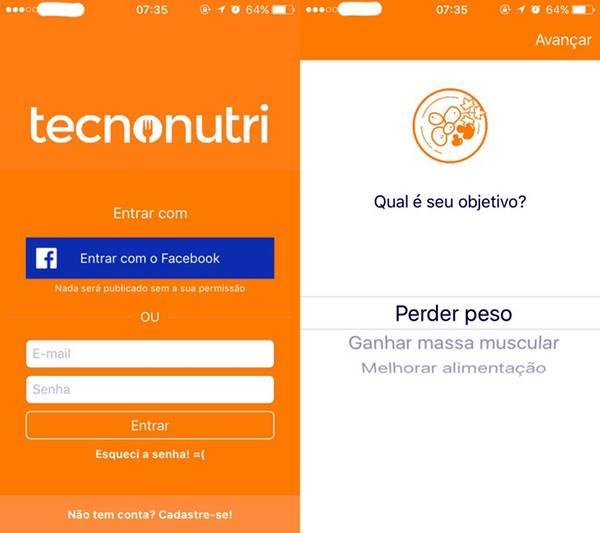 Como usar o app TecnoNutri para perder peso pelo Android ou iPhone