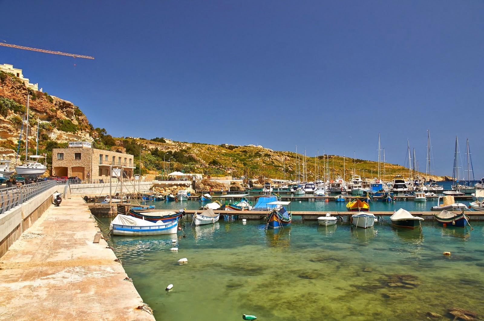 port na wyspie Gozo