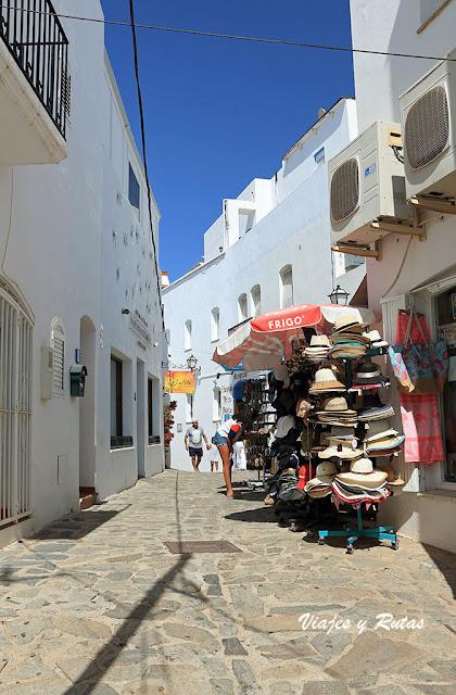 Tiendas en las calles de Mojácar. Almería