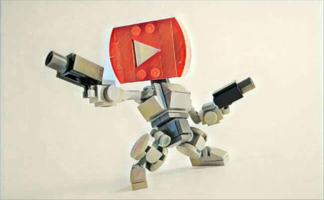 робот YouTube
