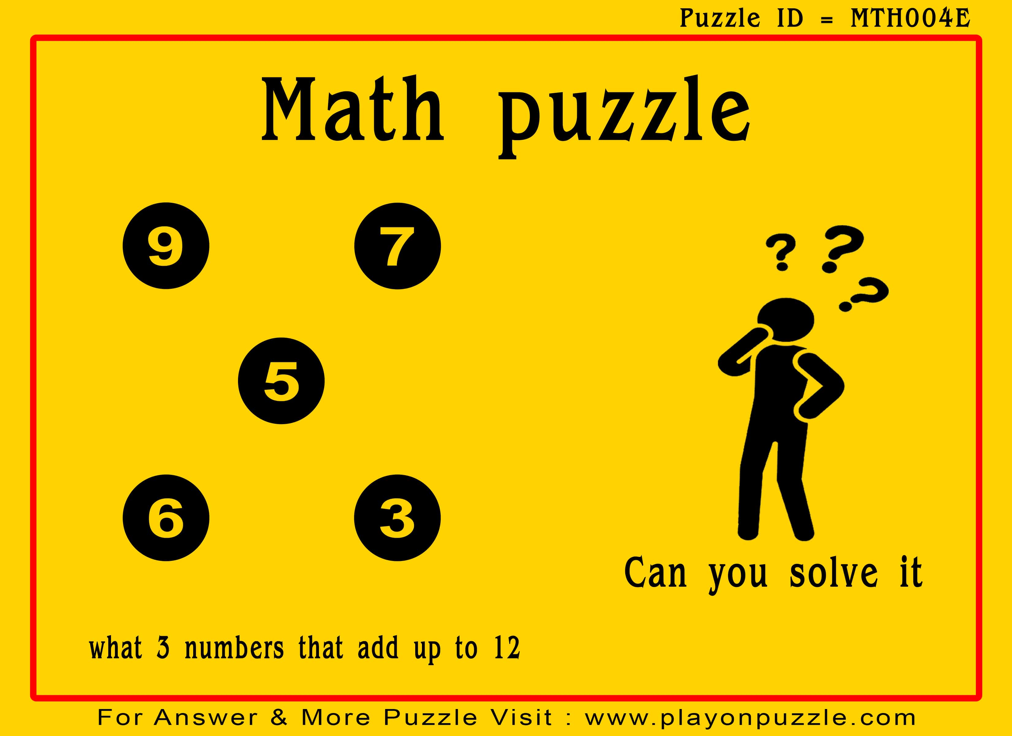 Easy Level Math Puzzles For Kids With Answer Play On Puzzle