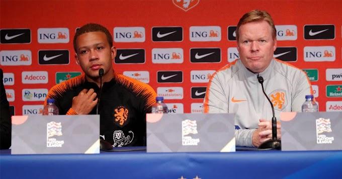 Barcelona head coach Koeman confirms interest in Lyon striker Memphis Depay
