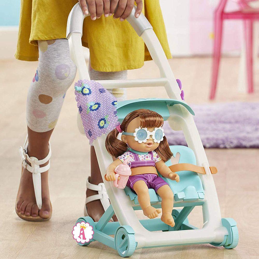 Baby Alive Littles Push 'N Kick Stroller кукла Lucy с коляской