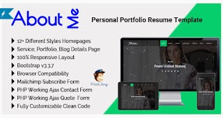 AboutMe Personal Portfolio Resume HTML Website Templates