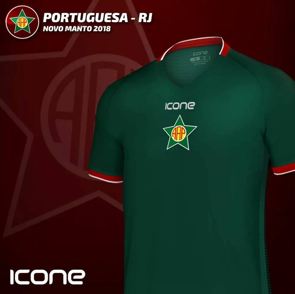 Ícone Sports lança a terceira camisa da Portuguesa Carioca - Show de ... c41804b1404bf