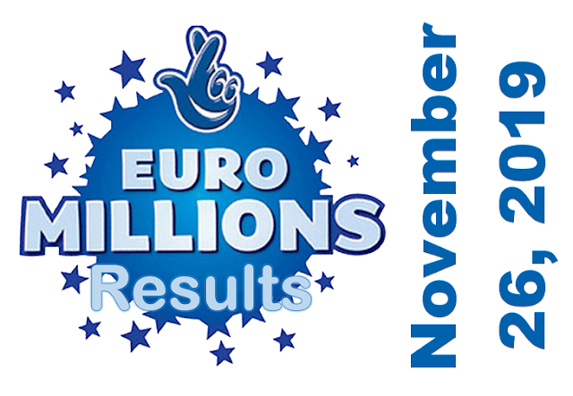 EuroMillions Results for Tuesday, November 26, 2019