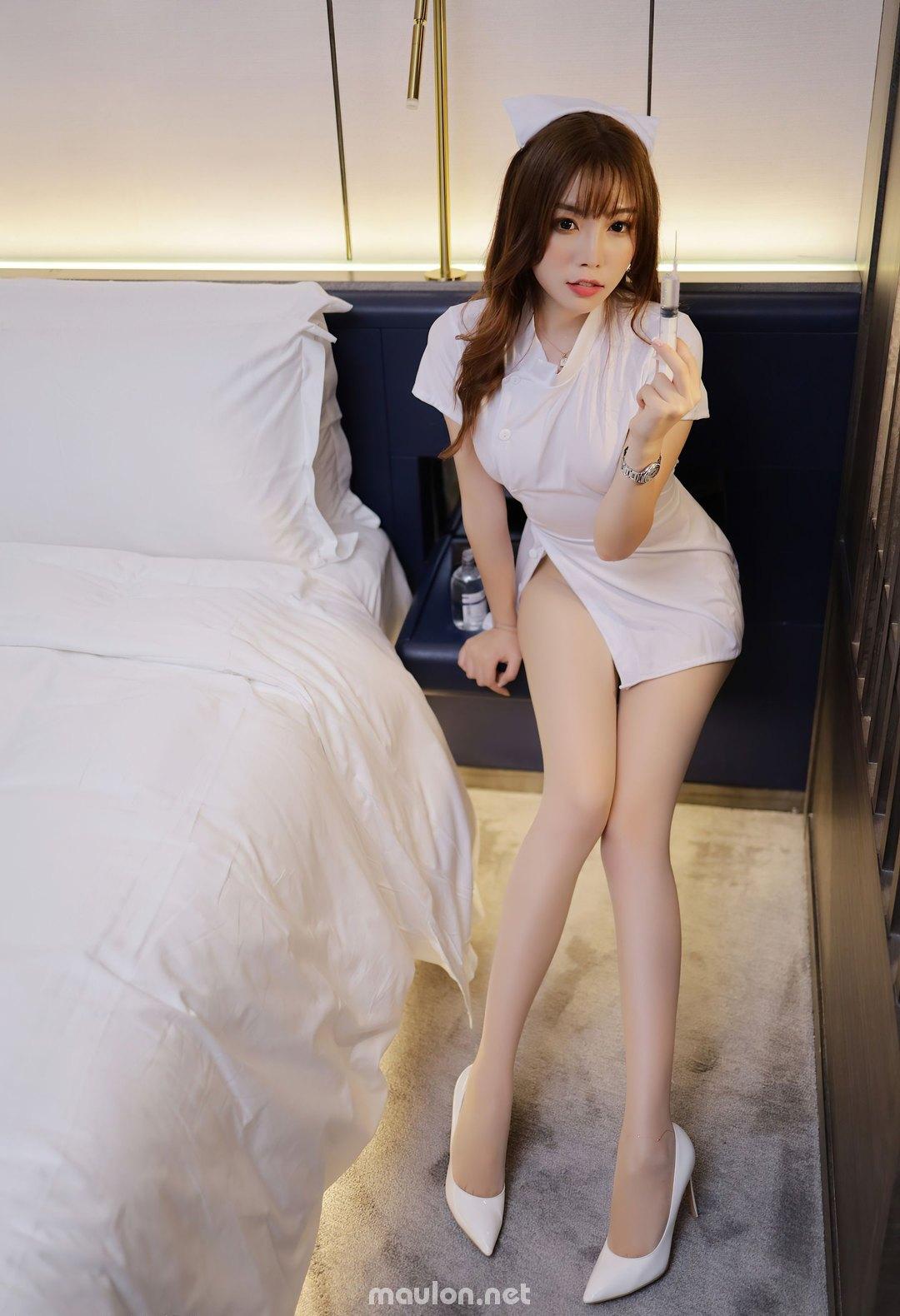MauLon.Net - Hình ảnh nữ y tá sexy xiuren 02