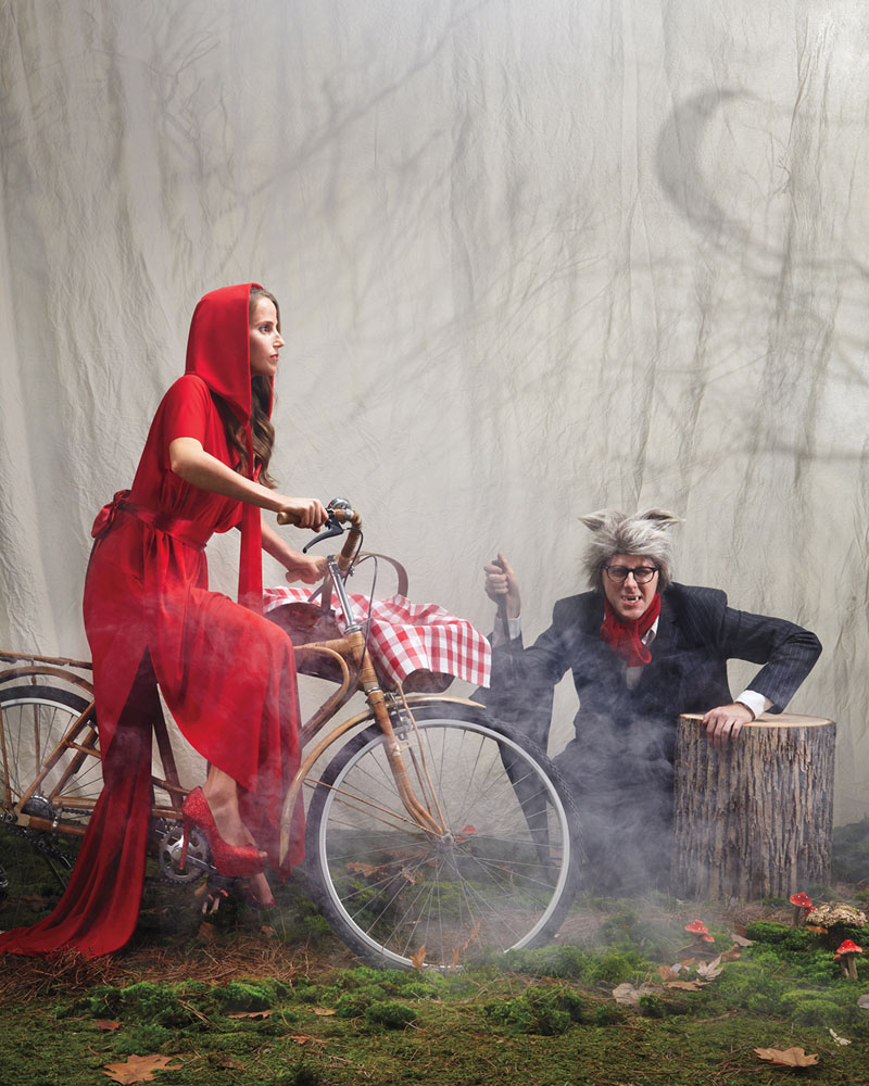little red riding hood and big bag wolf halloween costumes