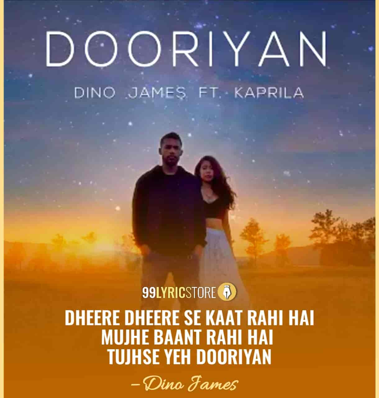 Dooriyan Song Images Sung by Dino James