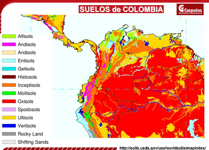 Godues los suelos de colombia for Que elementos conforman el suelo