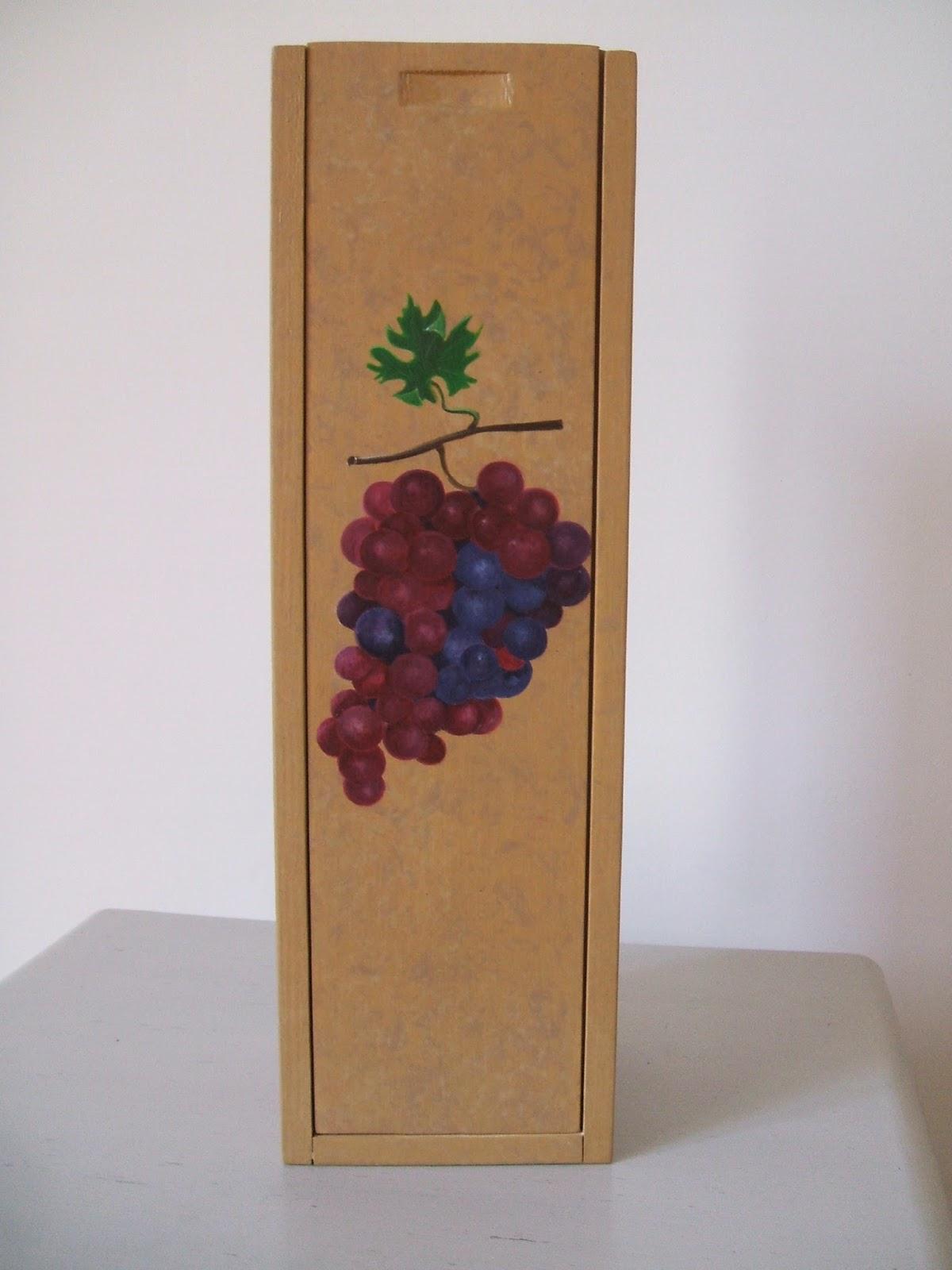 peinture d corative sur bois boites a vin. Black Bedroom Furniture Sets. Home Design Ideas