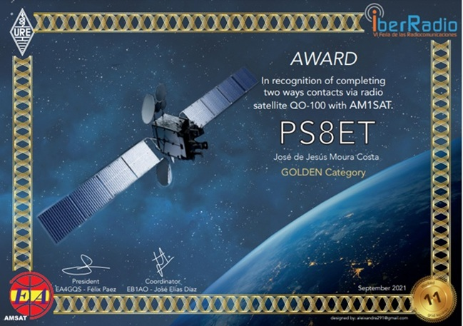 AMSAT-EA - GEO GOLD Diploma 2021