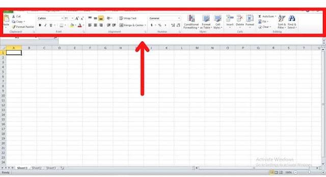 Pengaturan Ribbon di Excel