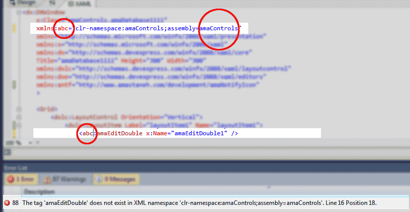 The tag does not exist in XML namespace - Software Development
