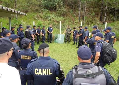 Guarda Civil de Indaiatuba (SP) passa  por curso em manuseio de fuzil FAL 7,62 no EB em ITU