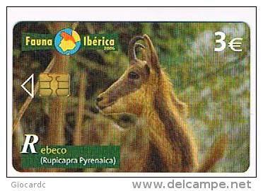 Tarjeta telefónica Rebeco (Rupicapra pyrenaica)