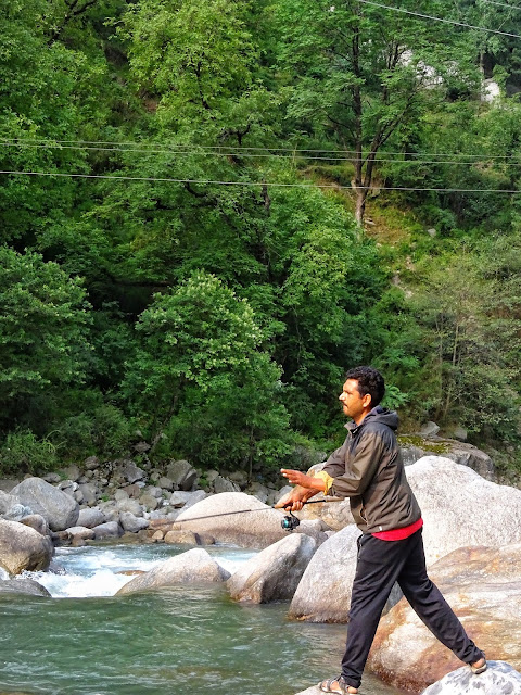 Trout fishing in Tirthan Valley