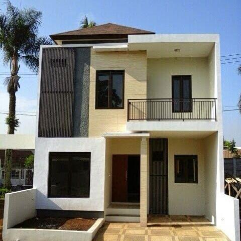 denah rumah minimalis 2 lantai mungil cantik | sederhana