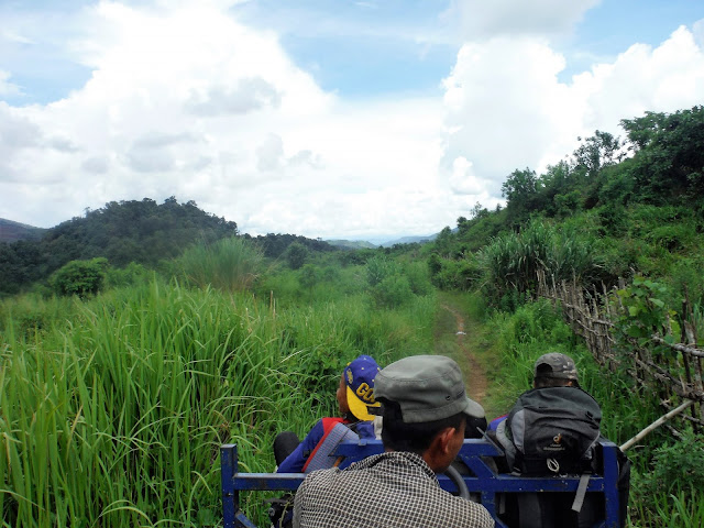tractor nam et phou louey national protected area laos